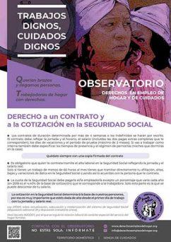 CARTEL 2 - DERECHO a un CONTRATO y a la COTIZACIÓN en la SEGURIDAD SOCIAL